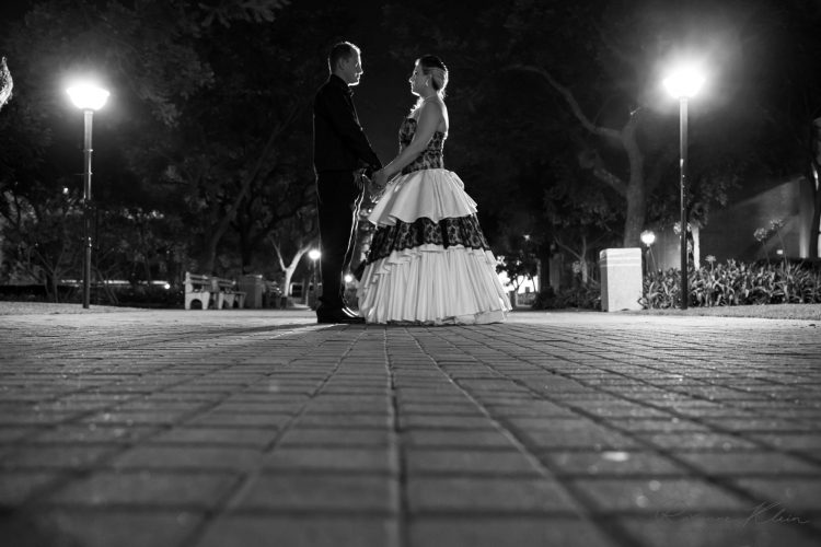 Bride and Groom in the Evening