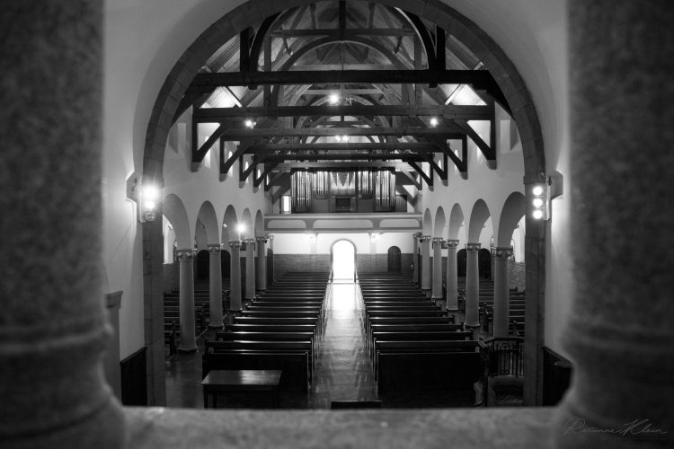 Church Rafters within Frame